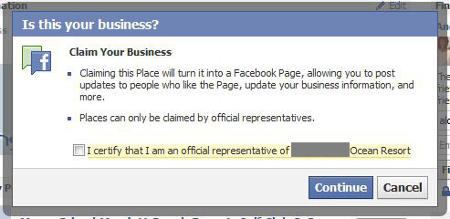 Claiming Business Place on Facebook
