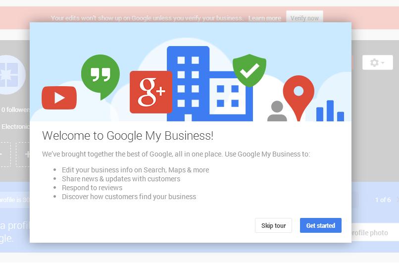Create a Google business account